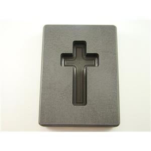 "2 oz Custom Cross Gold High Density Graphite Mold 1 oz Silver Necklace 1-11/16"""