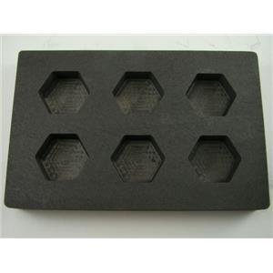High Density Graphite Hexagon Mold 2oz Gold Bar 6Cavities Silver 1oz Copper B126