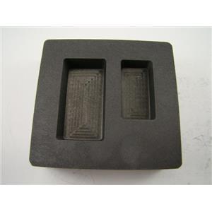 2 oz & 5 oz Gold Bar High Density Graphite Mold Combo Loaf Silver - Copper