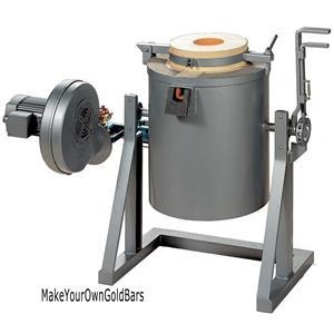 12 Kilo 2370 F  Propane Gas Tilting Furnace-Smelt/Melt Gold-Copper-Silver 1330C