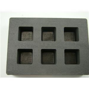 High Density Graphite Cube Mold 2oz Gold Bar 1oz Silver 6-Cavities Copper