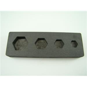 Hexagon Mold 1/4-1/2-1-2 oz Gold Bar High Denisty Graphite -Silver- Copper