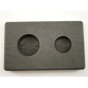 1/2 oz & 1 oz Round Gold Bar High Denisty Graphite Round Mold - Silver Copper