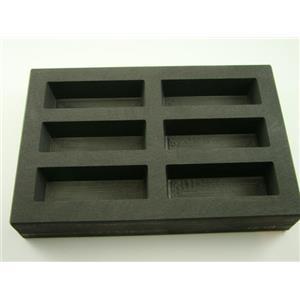 High Density Graphite KitKat Mold 10oz Gold Bar 5oz Silver 6-Cavities Scrap (B61