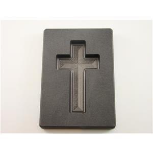 "5 oz Gold Custom Cross High Density Graphite Mold 3 oz Silver Necklace 2-3/4"""