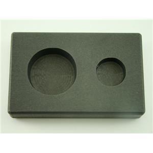 1 oz & 5 oz Round Gold Bar High Density Graphite Mold Combo - Silver Copper