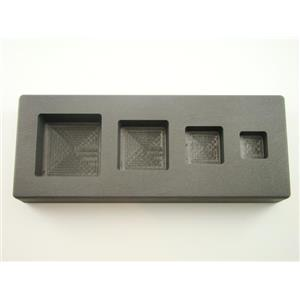 High Density Graphite Square Mold 1-2-5-10 oz Gold Bar Silver 4-Cavities (B66)