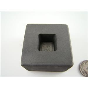 1 oz Gold 1/2oz Silver Bar High Density Graphite Tall Cube Mold Loaf Copper