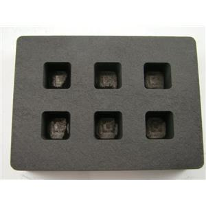 High Density Graphite Mold 1/2oz Gold Bar 6-Cavities Tall Cube Silver Copper