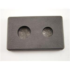 1/4 oz & 1/2 oz Round Gold Bar High Denisty Graphite Mold Combo - Silver Copper
