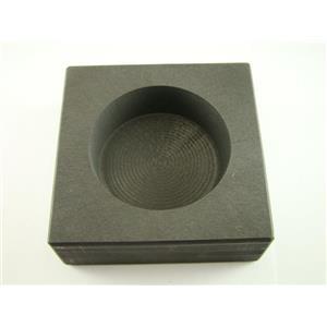 25 oz Round High Density Graphite Gold Bar Mold - Silver-Copper -Coin
