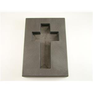 10 oz Deep Cross Gold High Density Graphite Mold 5 oz Silver Necklace