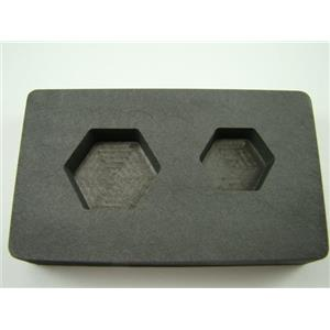 1 oz & 2 oz Gold Bar High Denisty Graphite Hexagon Mold Combo Loaf Silver