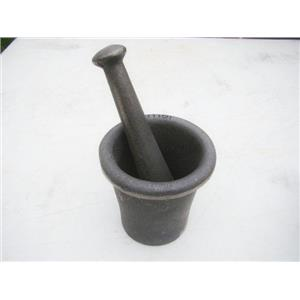 Cast Iron Mortar Pestle Rock-Ore Crusher-Pulverizer-Assay-Gold-Silver-Quartz Lg