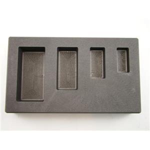 1-2-5-10 oz Silver Bar AG High Density Graphite Mold 4-Cavity Combo