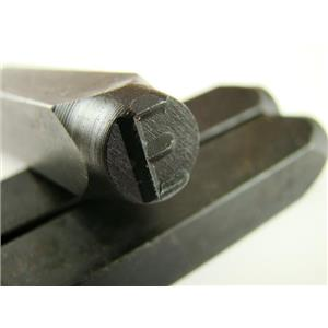 """1/4"""" Letter """"E"""" Stamp-Punch-Hand-Tool-Gold Bar-Silver-Trailer-Metal-Leather"""