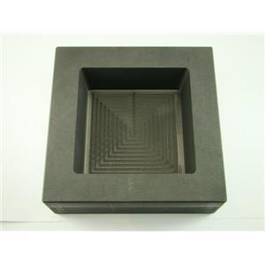 100 oz Gold 50 oz Silver Bar High Density Graphite Square Slab Mold Loaf (B50)