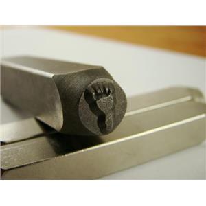 """""""Hang Ten Left Foot""""3/8""""-9.5mm-Stamp-Metal-Hardened Steel-Gold & Silver Bars"""