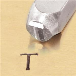 """Greek-Tau-Sign"" 1/4""-6mm-Large Stamp-Punch-Metal-Steel-Gold & Silver Bars"