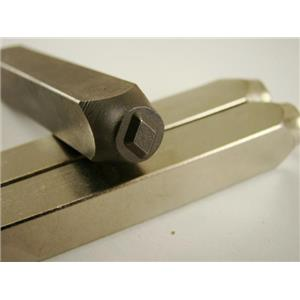 """""""Diamond Cards"""" 1/4""""-6mm-Large Stamp-Metal-Hardened Steel-Gold&Silver Bars"""