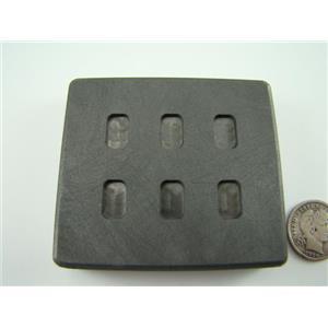 1 Gram x 6 High Density Graphite Gold Bar Mold 6-Cavities - 1/2 Gram Silver Bar