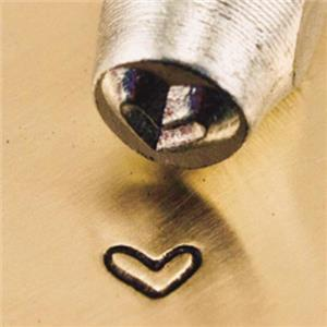 """""""Whimsy Love Heart"""" 1/8""""-3mm-Stamp-Metal-Hardened Steel-Gold&Silver Bars"""