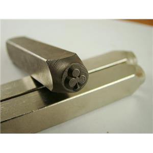 """""""Clubs Clover"""" 1/4""""-6mm-Large Stamp-Metal-Hardened Steel-Gold&Silver Bars Copper"""