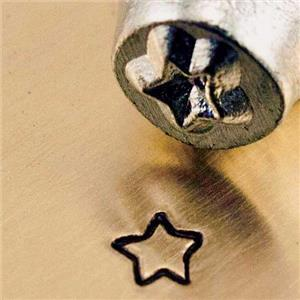 """Fun Star Design""1/8""3mm-Stamp-Metal-Hardened Steel-Fine Silver Bars Copper"