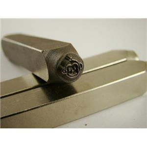 """""""Happy Monkey Face"""" 1/4""""-Large Stamp-Metal-Hardened Steel-Gold&Silver Bars"""