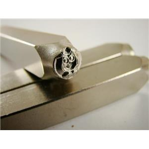 """""""Hootie Owl"""" 1/4""""-6mm-Large Stamp-Metal-Hardened Steel-Gold&Silver Bars Copper"""