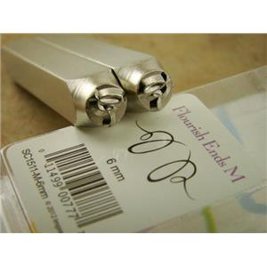 """""""Whimsy Flourish Ends/Corners Set """" 1/4""""-6mm-Stamp-Metal--Gold&Silver Bars"""