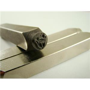"""Hang Loose "" 1/4""-6mm-Large Stamp-Metal-Hardened Steel-Gold&Silver Bars Copper"