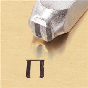 """""""Greek-Pi-Sign"""" 1/4""""-6mm-Large Stamp-Punch-Metal-Steel-Gold & Silver Bars"""