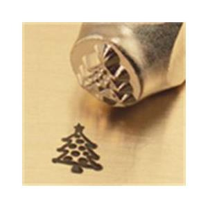 """Christmas Tree""1/4""-6mm-Large Stamp-Punch-Metal-Steel-Gold&Silver Bars"