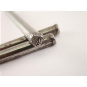 """Yen-Yang"" Symbol 3/16""-5mm-Stamp-Hardened Steel-Gold&Silver Bars Cosmo"