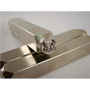 """Skull Cross Bones""- 1/4""-6mm-Large Stamp-Metal-Hardened Steel-Gold&Silver Bars"