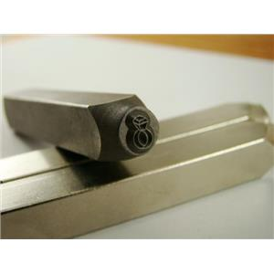 """""""Diamond Ring"""" 1/4""""-6mm-Large Stamp-Metal-Hardened Steel-Gold&Silver Bars Copper"""