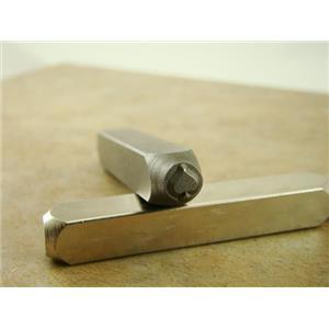 """Spade Cards"" 1/4""-6mm-Large Stamp-Metal-Hardened Steel-Gold&Silver Bars Copper"