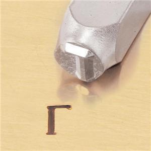"""Greek-Gamma-Sign"" 1/4""-6mm-Large Stamp-Punch-Metal-Steel-Gold & Silver Bars"