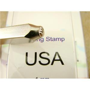 """""""USA"""" United States 1.5mm-Stamp-Metal-Hardened Steel-Gold & Silver Bars Rings"""
