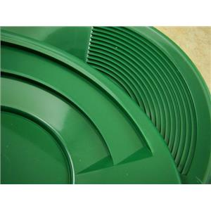 "Lot of 25 - 8"" Green Gold Pans w/ Bottle Snuffer-Panning Kit-Prospecting-Mining"