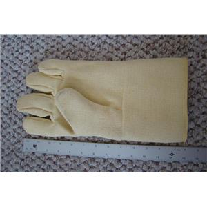 "Professional Kevlar Heat Glove-Furnace Kiln Fire 13"" Left Hand Gold Silver"