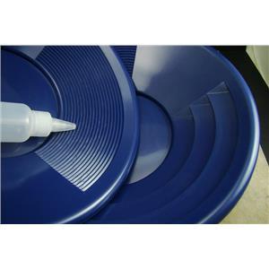 "Lot of 25-12"" Blue Gold Pans w/ Bottle Snuffer-Panning Kit-Prospecting-Mining"