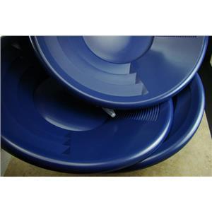 "Lot of 3-12"" Blue Gold Pans w/ Bottle Snuffer-Panning Kit-Prospecting-Mining"