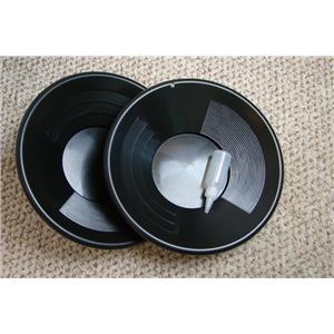 "Set of 2-14"" Black Gold Pans Bottle Snuffer - Mining-Panning Kit-Prospecting"