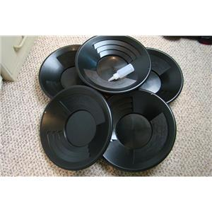 "Lot of 50-14"" Black Gold Pans + Bottle Snuffer - Mining-Panning Kit-Prospecting"