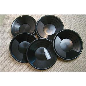 "Lot of 25-12"" Black Gold Pans w/ Bottle Snuffer-Panning Kit-Prospecting-Mining"