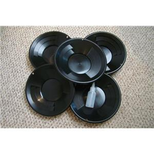 "Lot of 5- 10"" Black Gold Pans w/ Bottle Snuffer-Panning Kit-Mining BackPack"