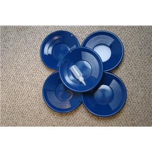"Lot of 50 - 10"" Blue Gold Pans w/ Bottle Snuffer-Panning Kit-Mining Wholesale"