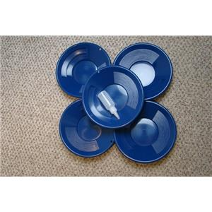 "Lot of 10 - 10"" Blue Gold Pans w/ Bottle Snuffer-Panning Kit-Mining BackPack"